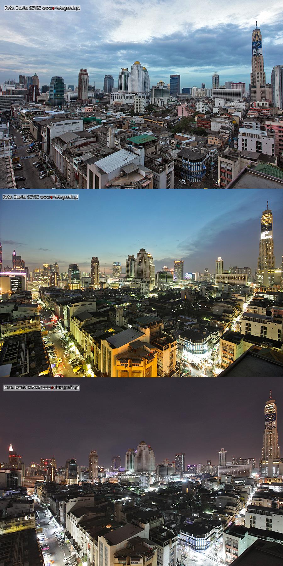 Trzy odsłony Bangkoku - widok z pokoju hotelowego