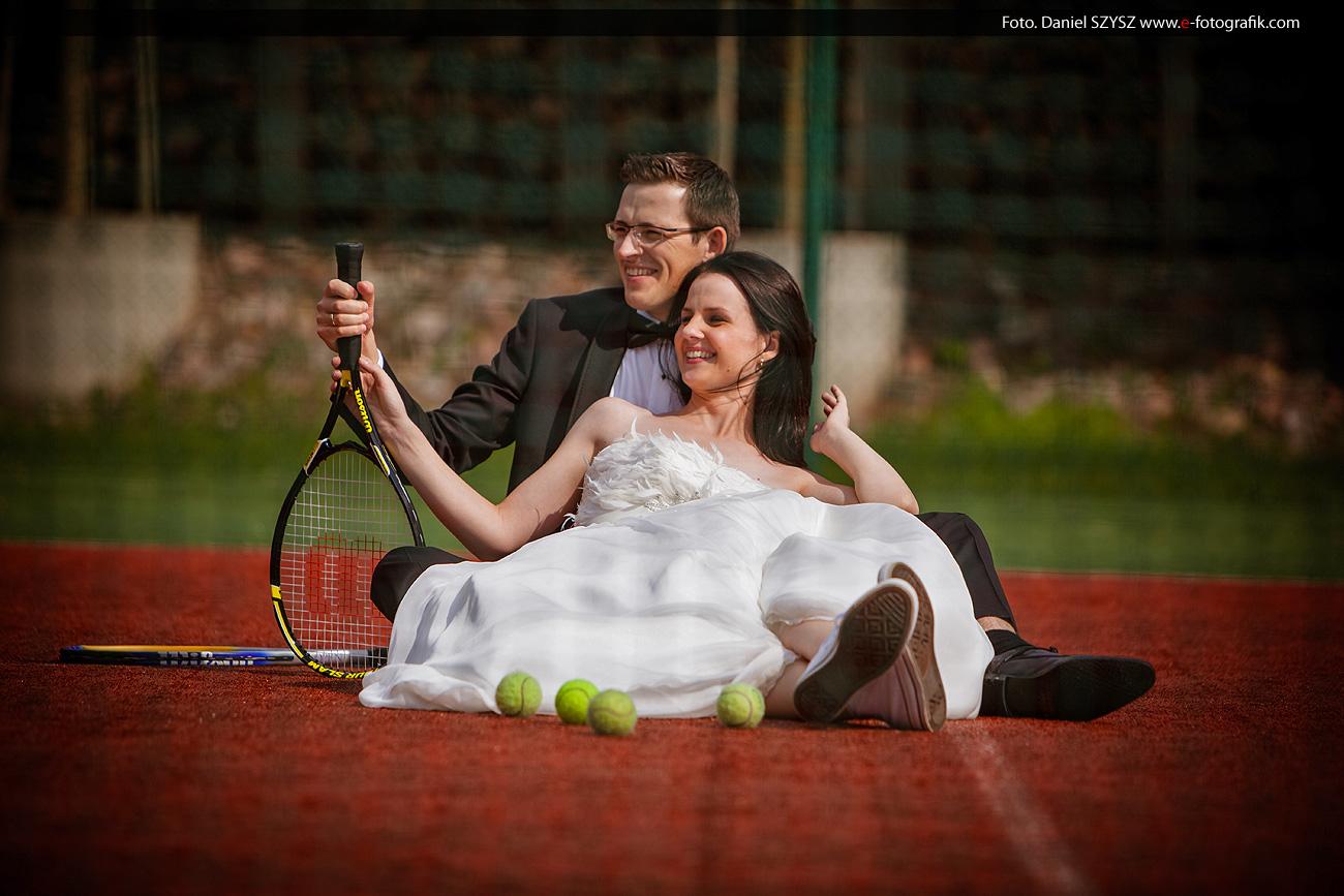 Fotografia ślubna - kort tenisowy Zielona Góra - Nowa Sól - Sulechów - Głogów - Żary - Żagań