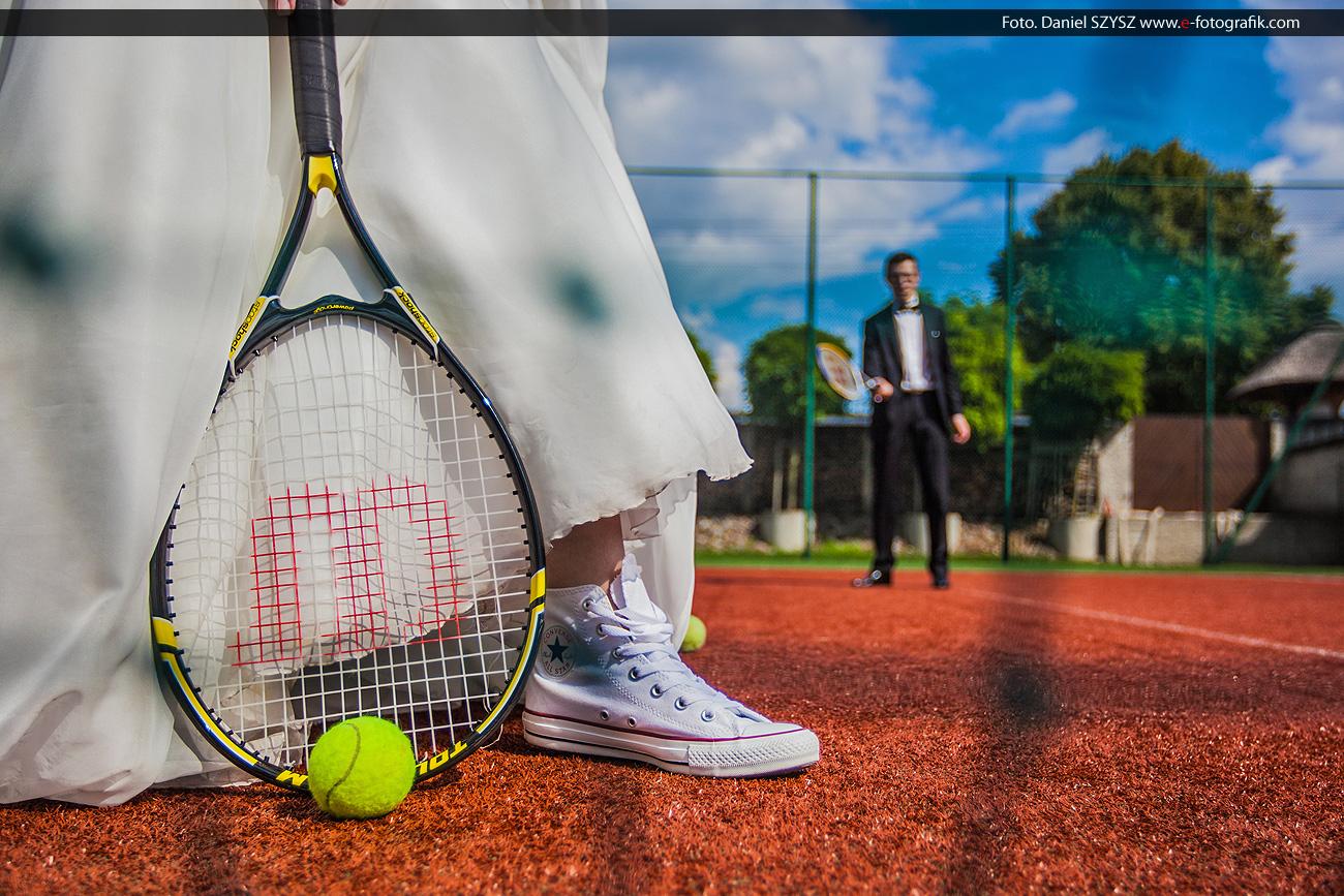Zielona Góra sesja ślubna na sportowo